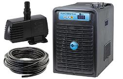 "EcoPlus 1/4 HP Chiller + 396GPH Water Pump + 3/4"" Black Tubi"