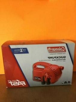 Coleman 120V Rechargeable Air Pump NEW In BOX  for Air Bed o