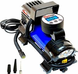 12V DC Portable Air Compressor Pump, Digital Tire Inflator,