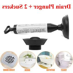 """16.9"""" Rubber Hand Powered Air Pump Action Drain Plunger Uncl"""