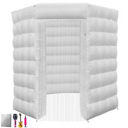 2.5M Inflatable LED Air Pump Photo Booth Tent Octagon Spacio