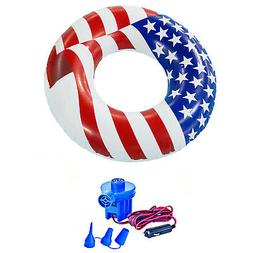 "Swimline 36"" American Flag Swimming Pool Tube Float + 12-Vol"