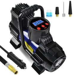 5 Heavy Duty Portable 12V 1 Car Tire Inflator Pump Air Compr