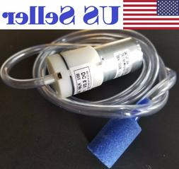 6V DC 370 High-power Micro Air Pump Aquarium Air Vacuum + 1M