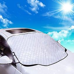 Car Windscreen Cover Magnetic Car Sun Protector Waterproof D