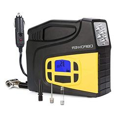DBPOWER Portable 12V DC Tire Inflator, Digital LCD Display A