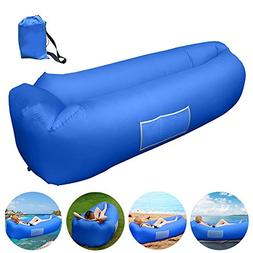 Inflatable Lounger, Inflatable Couch Hammock with Storage Po