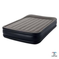 Intex Deluxe Pillow Rest Raised Airbed with Soft Flocked Top