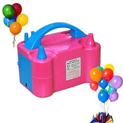 Portable Double Electric Balloon Air Pump Inflator 110V Blow