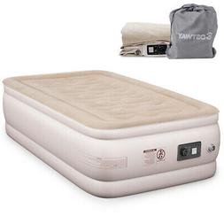 Twin Size Air Mattress Inflatable Upgraded Luxury Airbed Rai