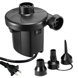 KUMEED Electric Air Pump Quick-Fill Inflator for Inflatables