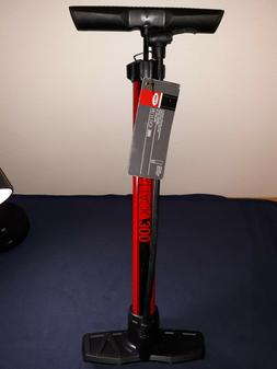 Bell Air Attack 300 High Volume Red Floor Pump for Bicycle T