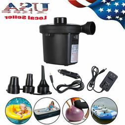 Electric Air Pump Portable Quick Fill AC DC Inflator Deflato
