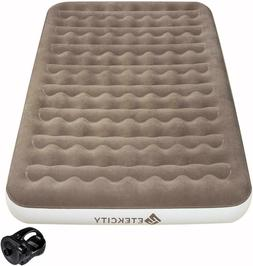 """Air Mattress Inflatable Airbed 9"""" with Rechargeable Air Pump"""
