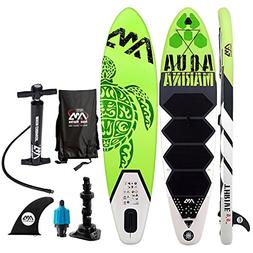 "Aqua Marina 9'9"" Inflatable Stand Up Paddle Board  with Pump"
