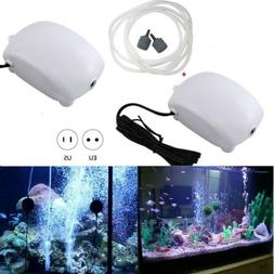 Aquarium Air Pump 2.5W Fish Tank Oxygen Bubble Stone Silent