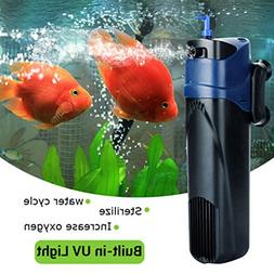 GEZICHTA Aquarium Air Pump, UV Sterilizer Oxygen Pump Submer