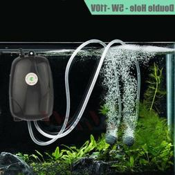 Aquarium Air Pump Fish Tank Mini Air Compressor Oxygen Pump