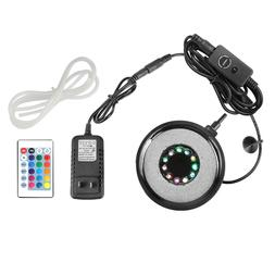 Aquarium Air Stone RGB LED Light Bubble Diffuser Disk for Fi