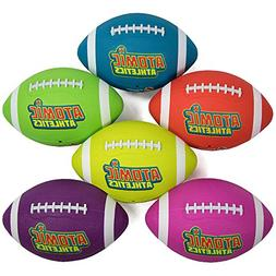 Atomic Athletics 6 Pack of Neon Rubber Playground Footballs