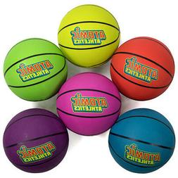Atomic Athletics 6 Pack of Neon Rubber Playground Basketball