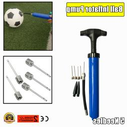 Ball Inflator Inflating Hand Air Pump For Football Soccer Ba