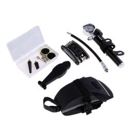 Bicycle Repair Tire Tyre Tool Set Kit Air Pump Inflator Tail