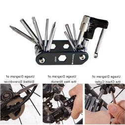 Bicycle Repair Tools Folding Hex Key Wrench Tire Patch Lever