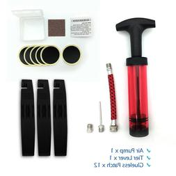 Bicycle Tire Repair Tools | Air Pump, Tire Levers, Glue-less