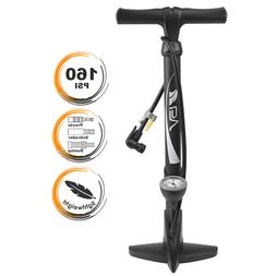 BV Bike Cycling Tire Floor Air Pump w/ Gauge Presta Schrader