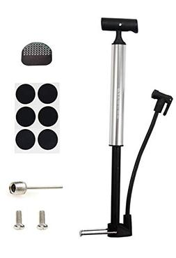Kitbest Bike Pump, Aluminum Alloy Portable Bike Floor Pump,