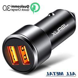 Car Charger, JSAUX 3A Dual USB Ports 36W Fast Car Charger Ad