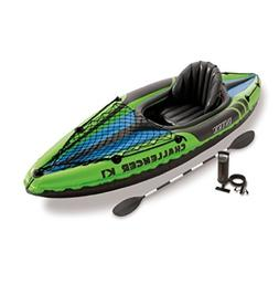 Intex Challenger K1 1-Person Inflatable Kayak with Air Pump