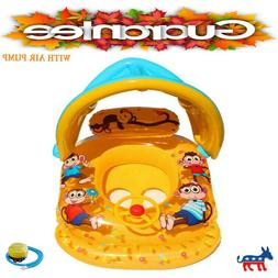 Cute Baby Swim Ring Children's Boat Floats Detachable Inflat