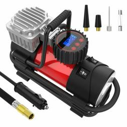 Mbrain DC 12V Portable Air Compressor - Digital Tire Inflato