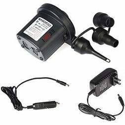 Electric Air Pump 110V AC/12V DC 2 Way Quick-Fill Air Beds P