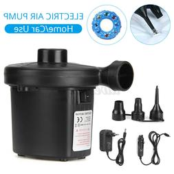 Electric Air Pump Car Home Use 3 Nozzle Car Boat Bed Mattres