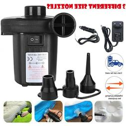electric air pump inflator deflate 3 nozzles