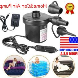 Electric Air Pump Inflator Deflator Home&Car Lighter US Plug