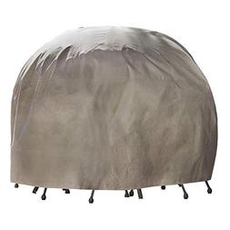 Duck Covers Elite Round Patio Table & Chair Set Cover with I