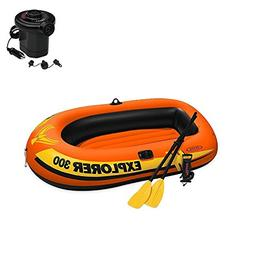 Explorer 300, 3-Person Inflatable Boat Set with French Oars