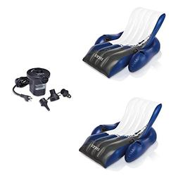 INTEX Floating Recliner Lounge w/ Cup Holders  & Quick Fill