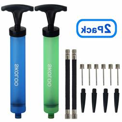 Hand Held Air Pump Sports Ball Inflator With Needle Pin Nozz