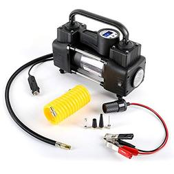 Heavy Duty Double Cylinder Portable Air Compressor Pump:12V