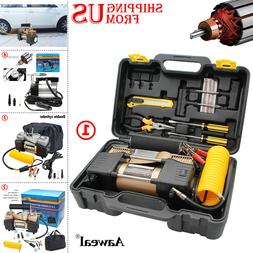 12V Car Tire Pump HEAVY DUTY Portable Air Compressor Inflato