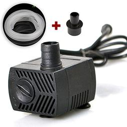 Mini submersible pump ultra-quiet 160GPH  for ponds, f
