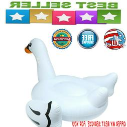 IN Giant White Mega Swan Inflatable Swimming Pool Toy Float