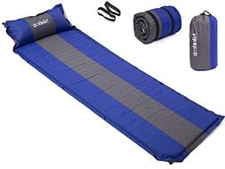 Inflatable Air Sleeping Pad with Built-in Pillow, Lightweigh