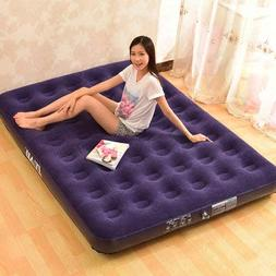 Inflatable Bed Outdoor Soft Flocked Top For Comfort Airbed T