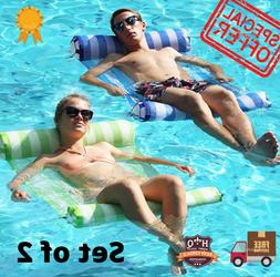 Inflatable Hammock Floating Swimming Pool Float Lounger With